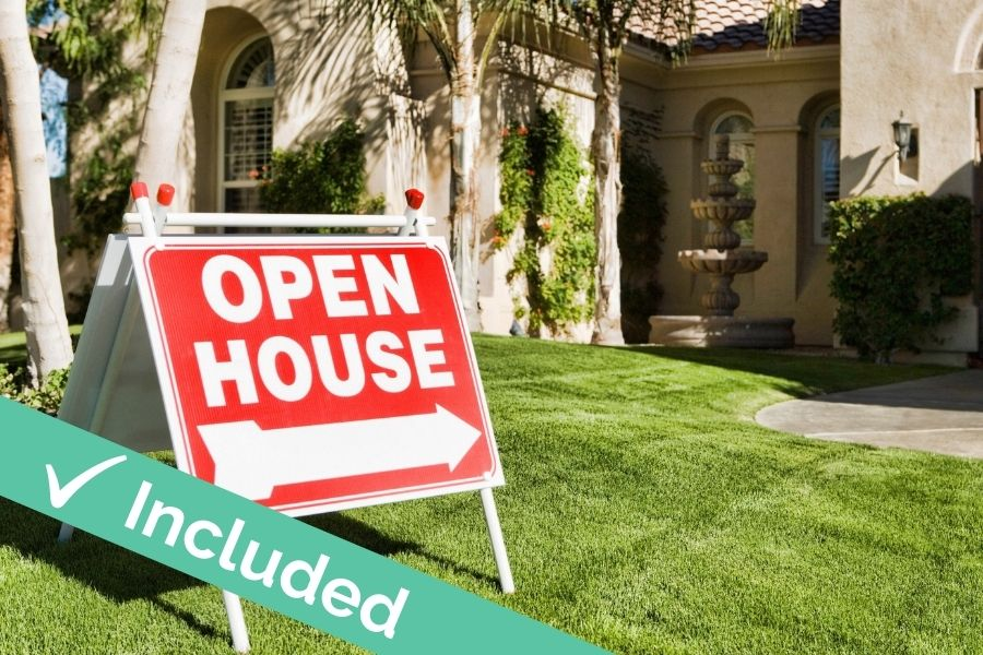 Host open houses with CA Flat Fee
