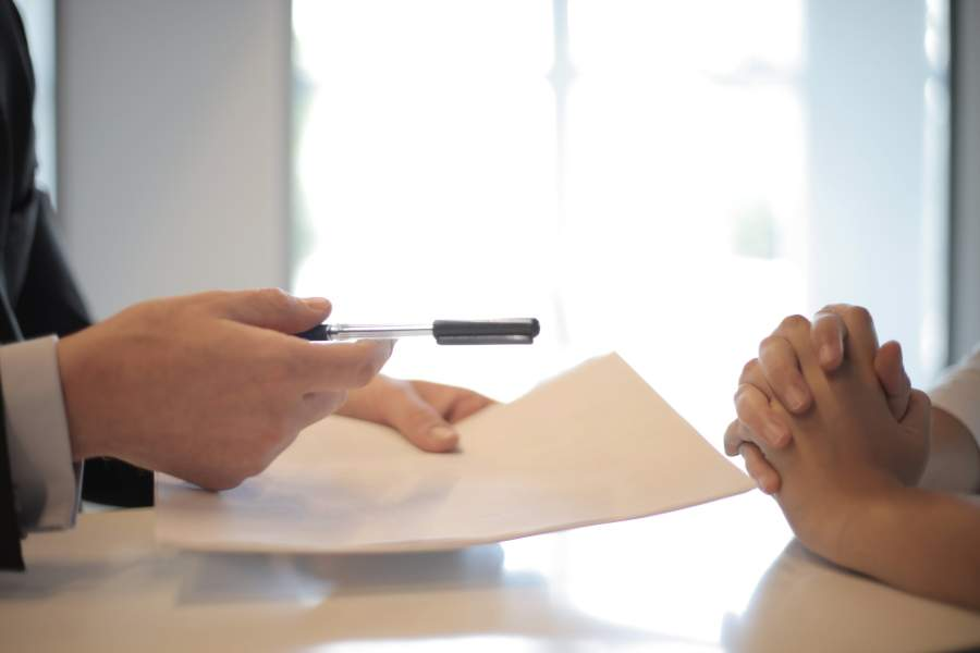 Person applying for a house loan